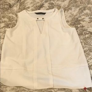 ZARA_Classic and chic white sleeveless top_SZ:S
